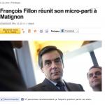 Article du Monde François Fillon réunit son micro-parti à Matignon